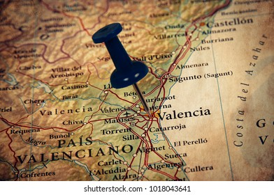 Valencia  destination in the map