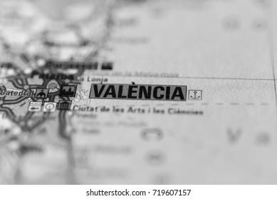 Valencia on map.