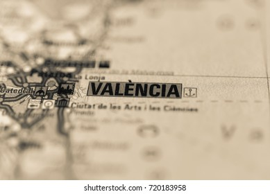 Valencia on map.