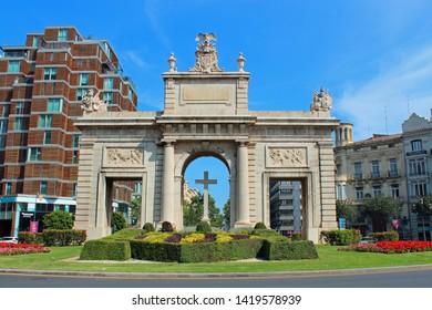 Valencia, Spain - 05/07/2019: Puerta de la Mar