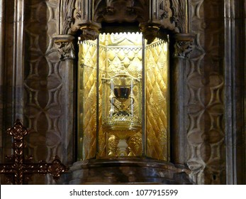 Valencia / Spain - 07/21/2017. The Holy Grail. St. Mary's Cathedral.