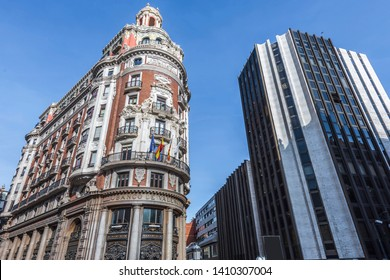 VALENCIA, SPAIN - APRIL 16, 2019: A wide view of the Valencia Bank