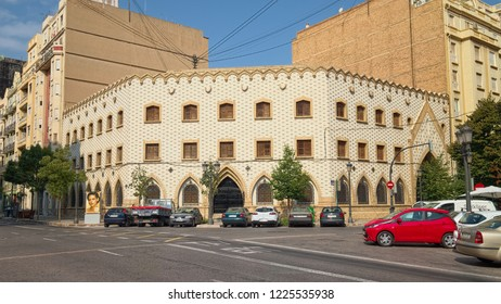 VALENCIA, SPAIN - AUGUST 30, 2018: Building of Siervas De Jesus (Nursing Agency), designed by architect Salvador Rocafull and Jaudenes and inaugurated in 1950.
