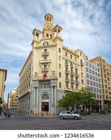 VALENCIA, SPAIN - AUGUST 30, 2018: Building called Casa del Chavo, which was designed by architect Enrique Viedma Vidal and built in 1928 in historic center of Valencia city next to the main square.