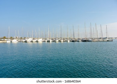 VALENCIA, SPAIN - DECEMBER 13: The Port of Valencia is the fifth busiest seaport in Europe, being also the largest in Spain and in the Mediterranean Sea basin. December 13, 2013 in Valencia, Spain