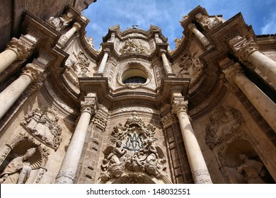 Valencia, Spain - facade of the Cathedral Church