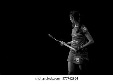 VALENCIA, SPAIN - FEBRUARY 12: Carola Salvatella during Hockey World League Round 2 Final match between Spain and Poland at Betero Stadium on February 12, 2017 in Valencia, Spain