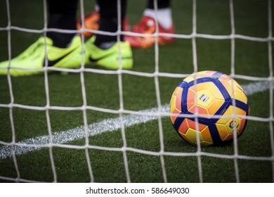 VALENCIA, SPAIN - FEBRUARY 19: La Liga soccer match between Valencia CF and CD Athletic Club Bilbao at Mestalla Stadium on February 19, 2017 in Valencia, Spain