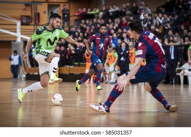 VALENCIA, SPAIN - FEBRUARY 19: Taffy with ball during Spanish league match between Levante UD FS and Movistar Inter at Cabanyal Stadium on February 19, 2017 in Valencia, Spain