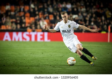 VALENCIA, SPAIN - FEBRUARY 21: Lato with ball during UEFA Europa League match between Valencia CF and Celtic FC at Mestalla Stadium on February 21, 2019 in Valencia, Spain