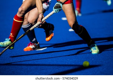 VALENCIA, SPAIN - FEBRUARY 5: Spanish player during Hockey World League Round 2 match between Spain and Czech Republic at Betero Stadium on February 5, 2017 in Valencia, Spain