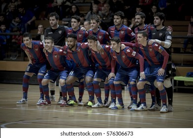 VALENCIA, SPAIN - FEBRUARY 7: Levante team during Spanish King Cup match between Levante UD FS and Elpozo Murcia at Cabanyal Stadium on February 8, 2017 in Valencia, Spain