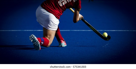VALENCIA, SPAIN - FEBRUARY 7: Marlena Rybacha during Hockey World League Round 2 match between Ghana and Poland at Betero Stadium on February 7, 2017 in Valencia, Spain