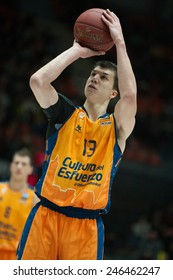 VALENCIA, SPAIN - JANUARY 21: Lucic during Eurocup match between Valencia Basket Club and CSU Asesoft at Fonteta Stadium on January 21, 2015 in Valencia, Spain