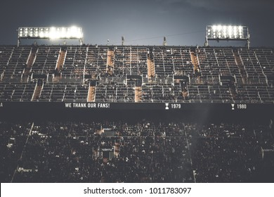 VALENCIA, SPAIN - JANUARY 27: The stadium during Spanish La Liga match between Valencia CF and Real Madrid at Mestalla Stadium on January 27, 2018 in Valencia, Spain