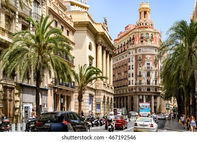 VALENCIA, SPAIN - JULY 19, 2016: Founded in 1900 Bank of Valencia (Banco de Valencia) is the sixth bank in Spain, and has its headquarters in the city of Valencia.