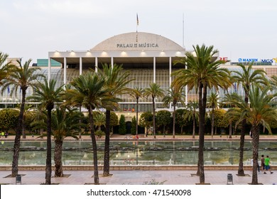 VALENCIA, SPAIN - JULY 20, 2016: Palau de la Musica de Valencia is a concert, cinema, arts, and exhibition hall in Valencia and home of the city municipal orchestra founded in 1943.