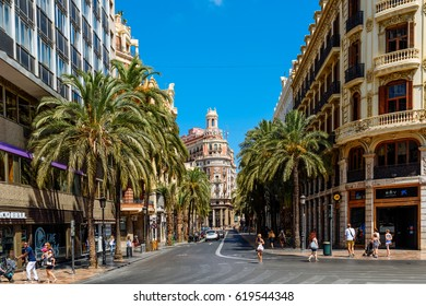 VALENCIA, SPAIN - JULY 27, 2016: Founded in 1900 Bank of Valencia (Banco de Valencia) is the sixth bank in Spain, and has its headquarters in downtown city of Valencia.