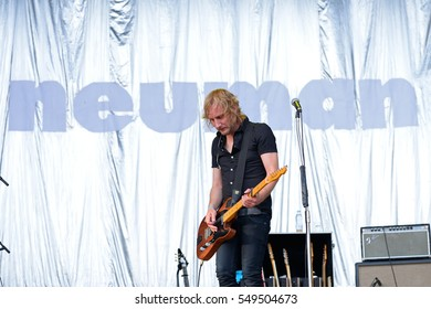 VALENCIA, SPAIN - JUN 10: Neuman (band) perform in concert at Festival de les Arts on June 10, 2016 in Valencia, Spain.