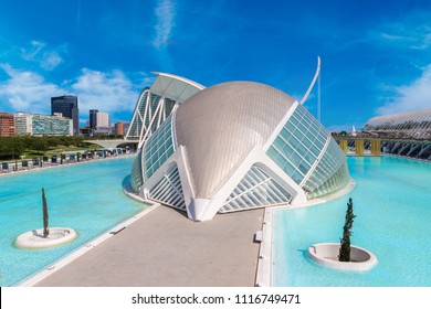 VALENCIA, SPAIN - JUNE 12, 2016: Museum of Science in Valencia in a beautiful summer day, Spain on June 12, 2016