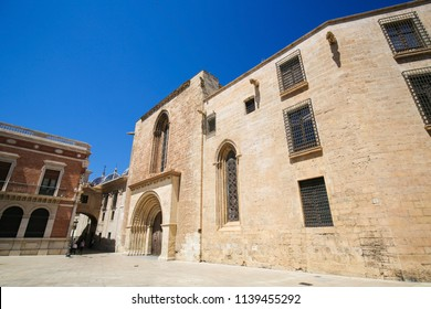 Valencia, Spain - June 15, 2018: Old Church in the center of Valencia, Spain