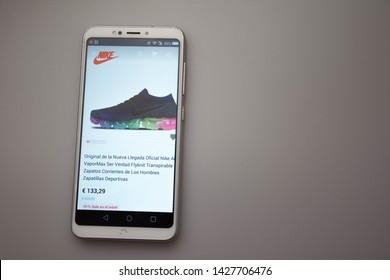 Valencia, Spain; June 18 2019:  AliExpress mobile app, AliExpress is a Chinese company selling online products