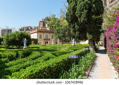 VALENCIA, SPAIN -june 19, 2015: Fragments of Monforte Gardens in Valencia, Spain. Park scenery concept