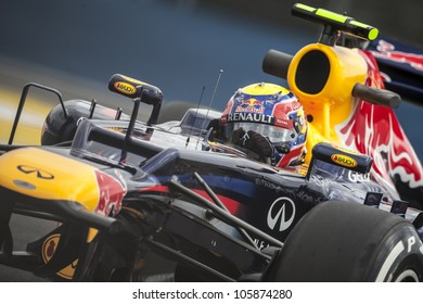 VALENCIA, SPAIN - JUNE 22: Mark Webber in the Formula 1 Grand Prix of Europe, in Valencia Street Circuit, Spain on June 22, 2012
