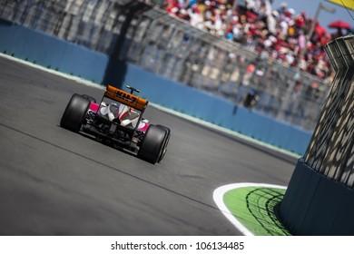 VALENCIA, SPAIN - JUNE 24: Pedro Martinez de la Rosa in the Formula 1 Grand Prix of Europe, Valencia Street Circuit. Spain on June 24, 2012