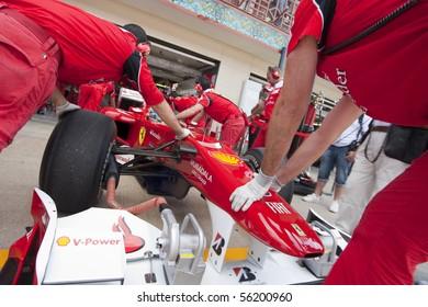 VALENCIA, SPAIN - JUNE 26: Formula 1 Valencia Street Circuit - Fernando Alonso - June 26, 2010 in Valencia, Spain
