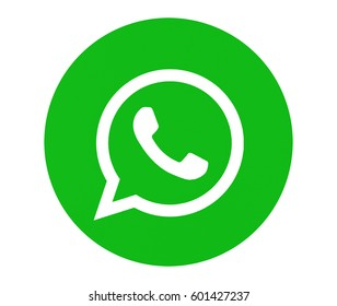 Valencia, Spain - March 05, 2017: WhatsApp  logotype printed on paper. WhatsApp is an instant messaging app for smartphones.