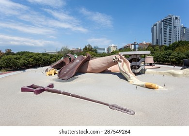VALENCIA, SPAIN - MAY 25: Parque Gulliver playground in the city of Valencia. May 25, 2015 in Valencia, Spain