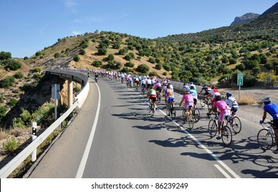 VALENCIA, SPAIN - MAY 29: Riders participate in the XI City of Valencia Cycling Event on May 29, 2010 in Valencia, Spain.