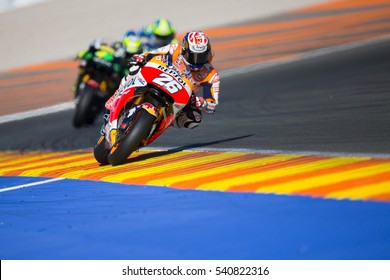 VALENCIA, SPAIN - NOV 13: Dani Pedrosa during Motogp Grand Prix of the Comunidad Valencia on November 13, 2016 in Valencia, Spain.