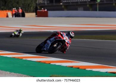 VALENCIA - SPAIN, NOVEMBER 10: Spanish Ducati rider Jorge Lorenzo at 2017 Motul MotoGP of Valencia at Cheste circuit on November 10, 2017