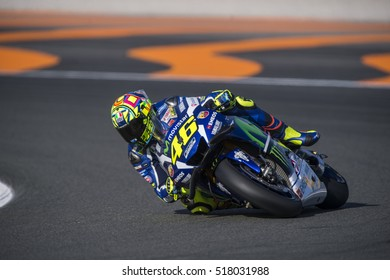 VALENCIA, SPAIN - NOVEMBER 11: Valentino Rossi during Valencia MotoGP 2016 at Ricardo Tormo Circuit on November 11, 2016 in Valencia, Spain