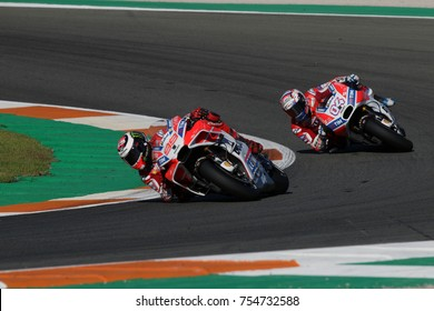 VALENCIA - SPAIN, NOVEMBER 12:             Spanish Ducati rider Jorge Lorenzo at 2017 Motul MotoGP of Valencia at Cheste circuit on November 12, 2017