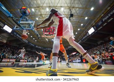 VALENCIA, SPAIN - NOVEMBER 18th: Sy during Eurocup between Valencia Basket Club and Sluc Nancy at Fonteta Stadium on November 18, 2015 in Valencia, Spain