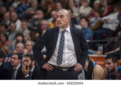 VALENCIA, SPAIN - NOVEMBER 22: Jaume Ponsarnau during Endesa League match between Valencia Basket Club and Retabet.es GBC at Fonteta Stadium on November 22, 2015 in Valencia, Spain