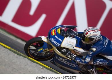 VALENCIA, SPAIN - NOVEMBER 6: Adrian Martin in motogp Grand Prix of the Comunitat Valenciana, Ricardo Tormo Circuit of Cheste, Spain on november 6, 2010