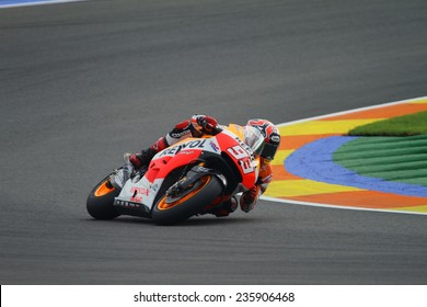 VALENCIA - SPAIN; NOVEMBER 8: Spanish Honda rider Marc Marquez at 2014 Generali MotoGP of Valencia on November 8, 2014