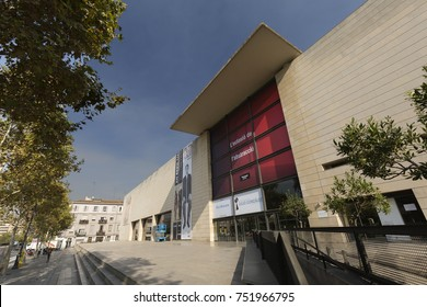 Valencia, Spain. October 25, 2017: The Valencian Institute of Modern Art, IVAM, is an institution created by Law 9/1986, of December 30.