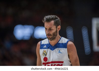 VALENCIA, SPAIN - OCTOBER 6: Rudy Fernandez during ENDESA LEAGUE match between Valencia Basket Club and Real Madrid at Fonteta Stadium on   October 6, 2016 in Valencia, Spain