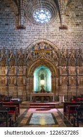Valencia, Spain - Octuber 14, 2016: The  the chapel of the Holy Grail in the Cathedral