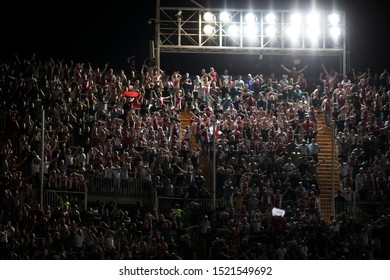 VALENCIA, SPAIN - OCTUBER 2: Ajax supporters during UEFA Champions League match between Valencia CF and AFC Ajax at Mestalla Stadium on Octuber 2, 2019 in Valencia, Spain