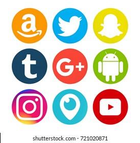 Snapchat logo flat icon