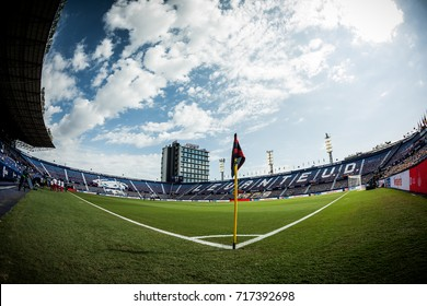 VALENCIA, SPAIN - SEPTEMBER 16: The Stadium during Spanish La Liga match between Levante Ud and Valencia CF at Ciutat de Valencia Stadium on September 16, 2017 in Valencia, Spain