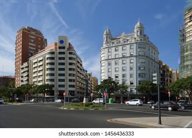 Valencia, Spain: Street in Valencia Spain in september.