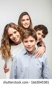 Valencia, Spain,12,12,2014: portrait in family studio