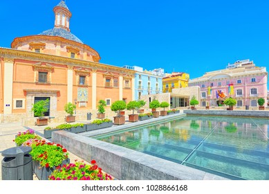 Valencia, Square of the Virgin Saint Mary and Basilica of the Mother of God Helpless, Almoina Archaeological Center. Spain.